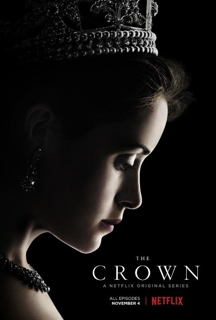 Poster for the Crown on Netflix