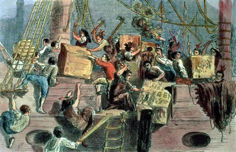 History of the wondrous Boston Tea Party