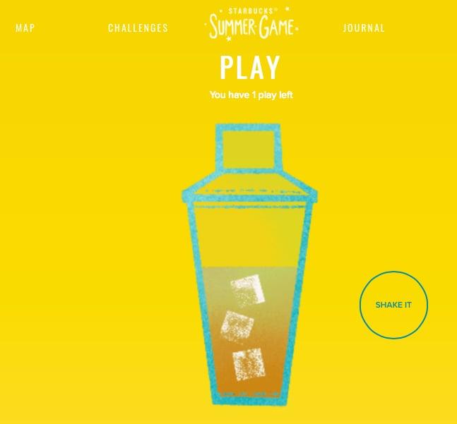Starbucks Summer Game by Society Mutter